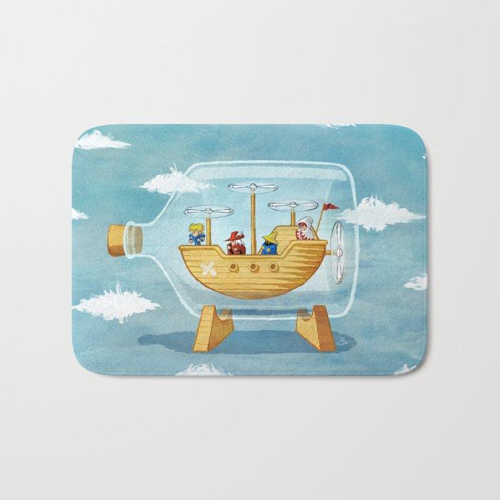 AIRSHIP IN A BOTTLE Bath Mat