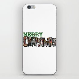 Big Letter Merry Christmas iPhone Skin