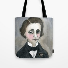 Lewis Carroll and the Cheshire Cat Tote Bag