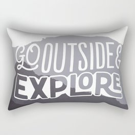 Go outside & explore (valley) Rectangular Pillow