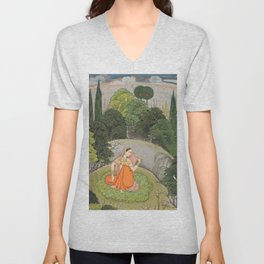 The Heroine Who Waits Anxiously for Her Absent Lover Unisex V-Neck