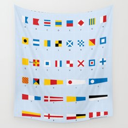 Maritime Signal Flags Poster Wall Tapestry