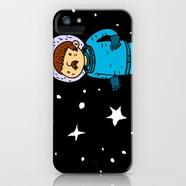 Seventies Astronaut iPhone Case