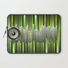 Green Musical Background Laptop Sleeve