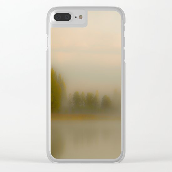 Misty Autumn Morning Clear iPhone Case