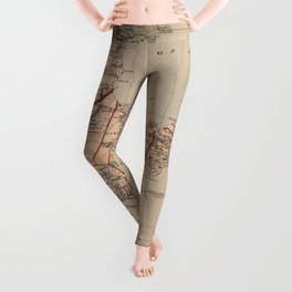 Vintage Map of Cape Cod MA (1905) Leggings