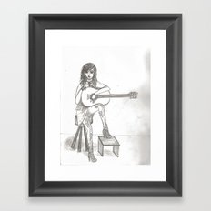 Now If Only I Could Play Guitar (sketch) Framed Art Print