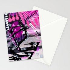 Wave black Stationery Cards