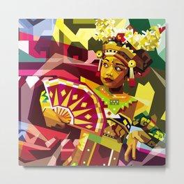 Balinese Dancer in WPAP Metal Print