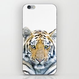 Tiger portrait iPhone Skin