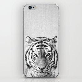 Tiger - Black & White iPhone Skin