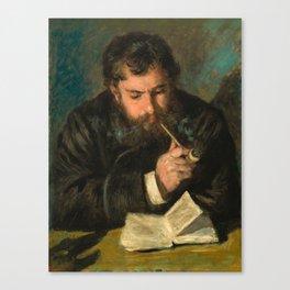 Pierre-Auguste Renoir - Claude Monet Canvas Print
