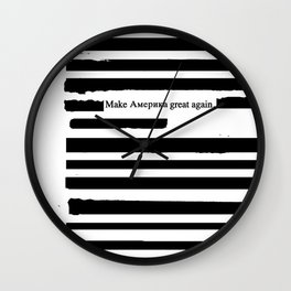 Alternative Facts Cyrillic Wall Clock