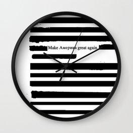 Alternative Facts Cyrillic Wall Clock