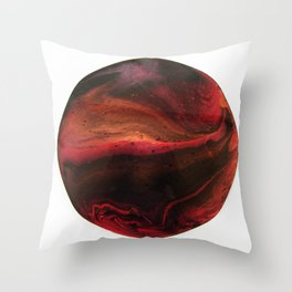 Red Planet on White Throw Pillow