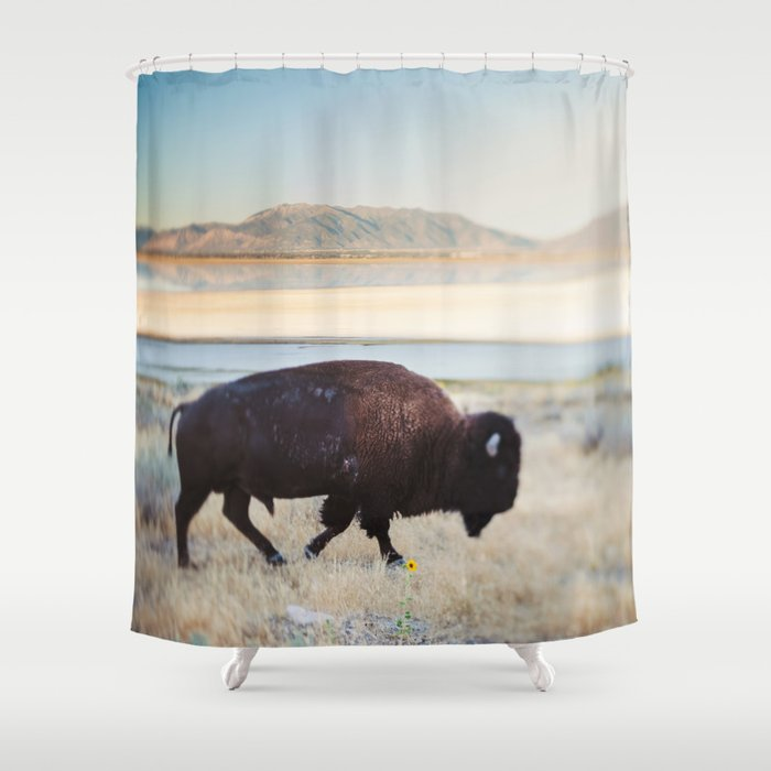 The Anonymous Buffalo Shower Curtain