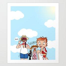 Ice cream party Art Print