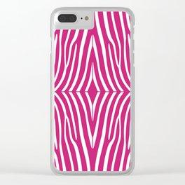 Fuchsia Zebra Clear iPhone Case