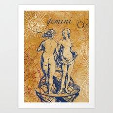 gemini | zwilling Art Print