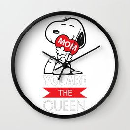 Snoopy - Mom You Are The Queen, Funny Snoopy Wall Clock