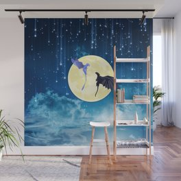 dragon fly on starry night Wall Mural