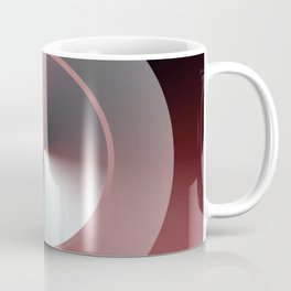Serene Simple Hub Cap in Red Coffee Mug