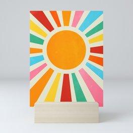 Retro Sunrise: Rainbow Edition Mini Art Print