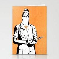 nurse Stationery Cards featuring Cigarette Nurse by Ben Talatzko