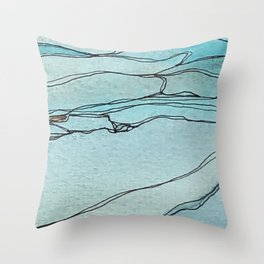 Springs in the Bedrock Throw Pillow