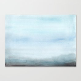 Watercolor Abstract Landscape Canvas Print