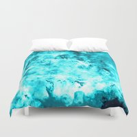 turquoise Duvet Covers featuring Turquoise by 2sweet4words Designs