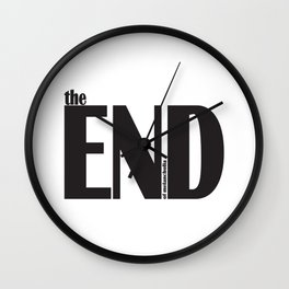 the end of melancholia Wall Clock