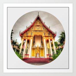 Temple Front (Circle) Art Print