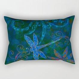 Dragon Fly Abstract Print Rectangular Pillow