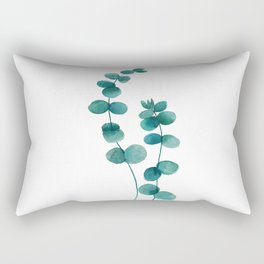 green eucalyptus watercolor Rectangular Pillow