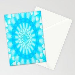 Mozaik Mandala Flower (blue) Stationery Cards