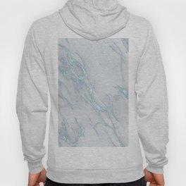 Marble Love Electric Blue Metallic Hoody