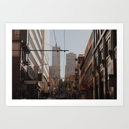 you know where the city is Art Print