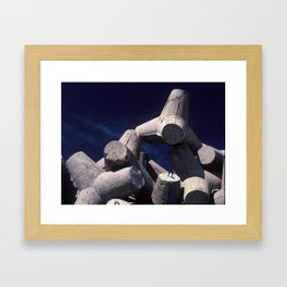 Concrete port attachment Framed Art Print