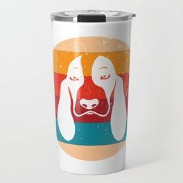 Vintage Basset Hound Lover Retro Puppy Breed Silhouette Gift Travel Mug