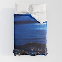 Everything That He Sees is Blue, A Painting by Jeanpaul Ferro Comforters