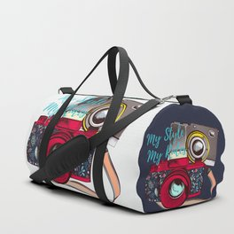 Retro camera. Fashion design. My style Duffle Bag