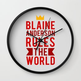 Blaine Anderson Rules The World Wall Clock