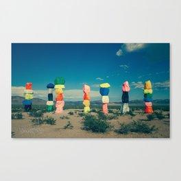 Seven Magic Mountains (Series1 Pt.1) Canvas Print