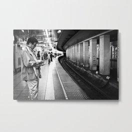 Man at Tsukiji Station  Metal Print