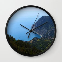 Coastal View from Hike Along Cinque Terre in Italy Wall Clock