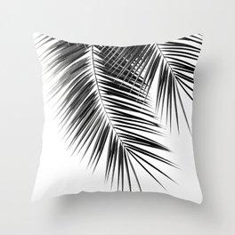 Black Palm Leaves Dream - Cali Summer Vibes #2 #tropical #decor #art #society6 Throw Pillow