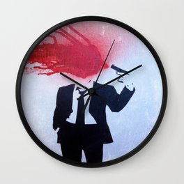 Headshot Grunge Wall Clock