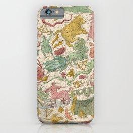 Libra Antique Astrology Zodiac Pictorial Map iPhone Case