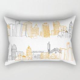 Detroit Architecture Landmarks Rectangular Pillow